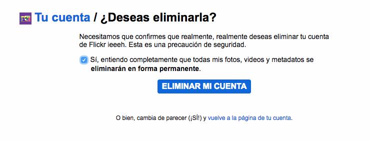 cerrar flickr